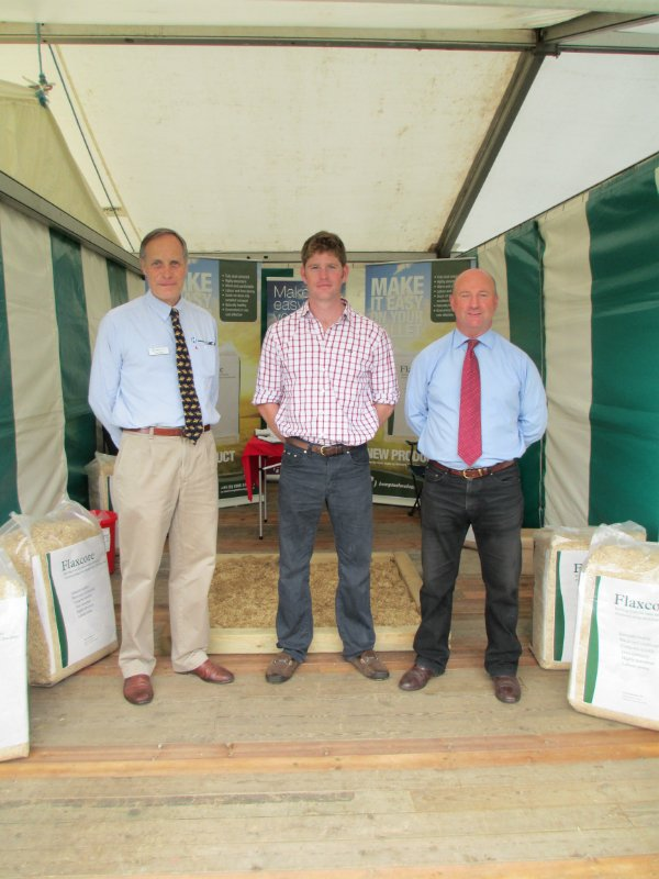 Angus with John and Fergus from Sponsors Hemp Technology at Blenheim
